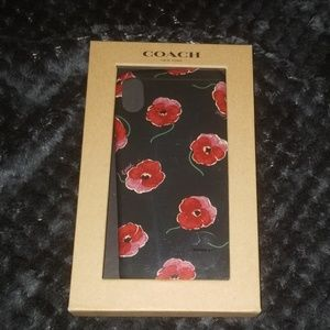 Coach iPhone X Case With Poppy Print